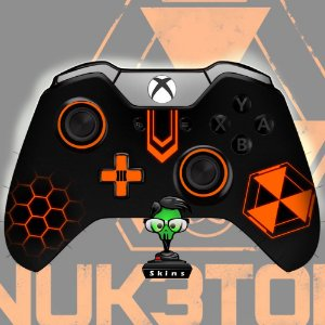 Sticker de Controle Xbox One Cod Black Ops Nuke Orange