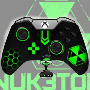 Sticker de Controle Xbox One Cod Black Ops Nuke Green