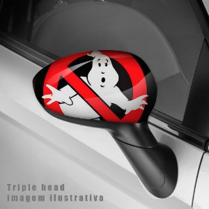 Ghostbusters caça fantasmas envelopamento retrovisor