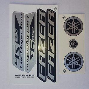 Faixa Fazer 250 YS 2012 Moto Preta Cod 969