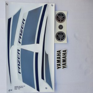Faixa Yamaha Fazer YS 250 2014 Moto Branca Cod 212