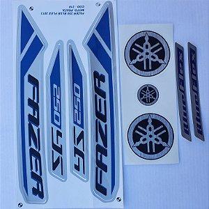 Faixa Yamaha Fazer 250 Blue Flex 2013 Moto Prata Cod 210