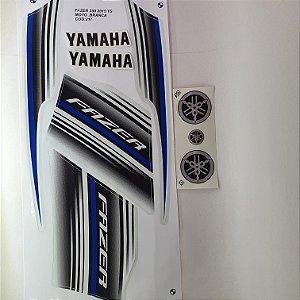 Faixa Yamaha Fazer 250 YS 2015 Moto Branca Cod 217