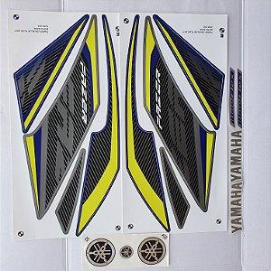 Faixa Yamaha Fazer Blue Flex 250 2017 Moto Azul Cod 253