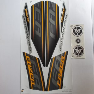 Faixa Yamaha Fazer 250 YS 2011 Moto Preta Cod 966