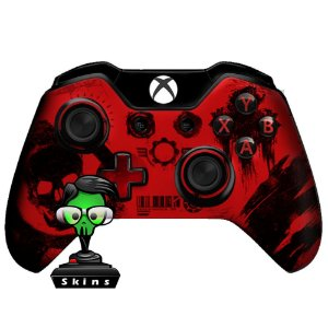 Sticker de Controle Xbox One Gears Of War Red Mod 02