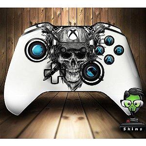 Sticker de Controle Xbox One Skull White