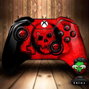 Sticker de Controle Xbox One Gears Of War Red Mod 03
