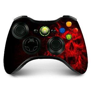 Adesivo de Controle XBOX 360 Evil Skull Red
