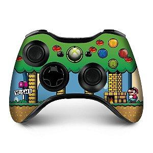 Adesivo de Controle XBOX 360 Mario Yoshi