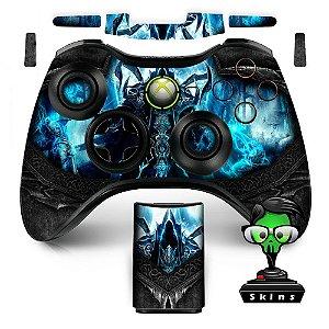 Adesivo de Controle XBOX 360 Diablo Reapers Sould Black