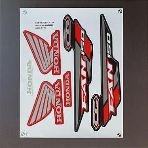 Faixa Honda CG 150 Fan ESDi 2014 Edição Especial Moto Vermelha Cod 1146