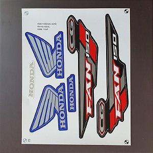 Faixa Honda CG 150 Fan ESDi 2014 Edição Especial Moto Azul Cod 1147