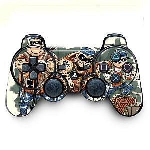 Adesivo de Controle PS3 Metralhas Mod 01