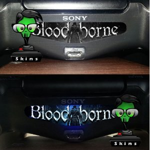 Adesivo Light Bar Controle PS4 Blood Borne Mod 01