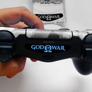 Adesivo Light Bar Controle PS4 God Of War Mod 06