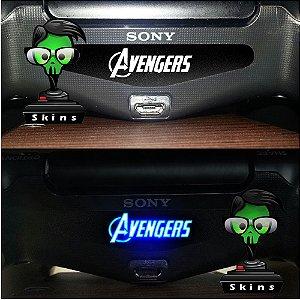 Adesivo Light Bar Controle PS4 Avengers Mod 01