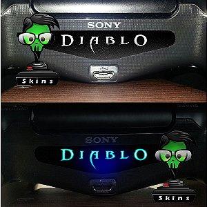 Adesivo Light Bar Controle PS4 Diablo Mod 01