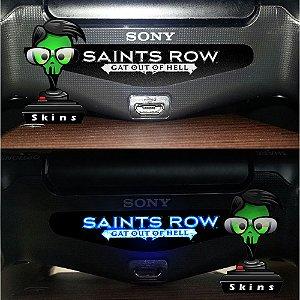 Adesivo Light Bar Controle PS4 Saints Row Mod 01