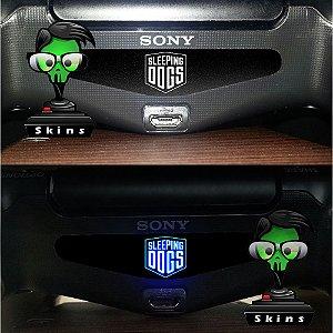 Adesivo Light Bar Controle PS4 Sleeping Dogs Mod 01