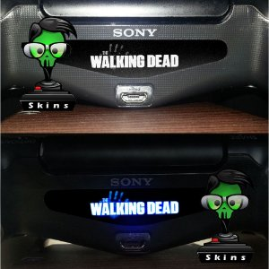 Adesivo Light Bar Controle PS4 The Walking Dead Mod 01