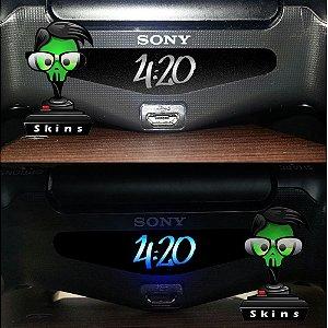 Adesivo Light Bar Controle PS4 4:20 Mod 02