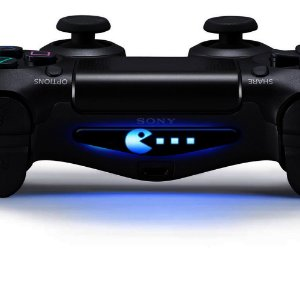 Adesivo Light Bar Controle PS4 Pacman Mod 02