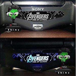 Adesivo Light Bar Controle PS4 Avengers Mod 02