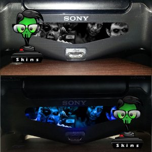 Adesivo Light Bar Controle PS4 Zombies Mod 06
