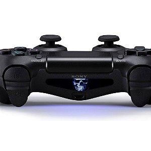 Adesivo Light Bar Controle PS4 Skull Mod 04
