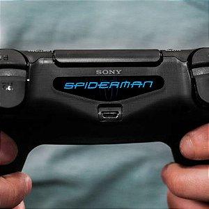 Adesivo Light Bar Controle PS4 Spiderman Mod 02