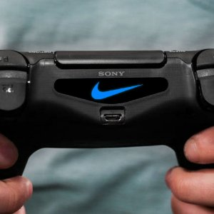 Adesivo Light Bar Controle PS4 NIKE Mod 02