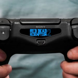 Adesivo Light Bar Controle PS4 Red Dead Redemption 2 Mod 01