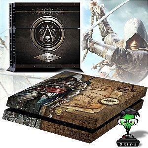 Adesivo para Console Ps4 Fat Assassins Creed Black Flag 2