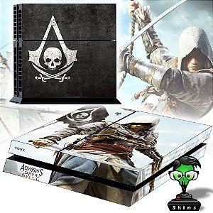 Adesivo para Console Ps4 Fat Assassins Creed Black Flag