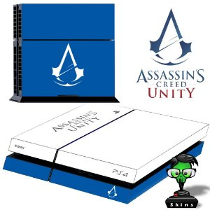 Adesivo para Console Ps4 Fat Assassins Creed Unity 3