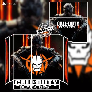Adesivo para Console Ps4 Fat Call Of Duty Black Ops