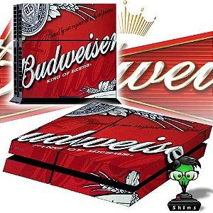 Adesivo para Console Ps4 Fat Budweiser