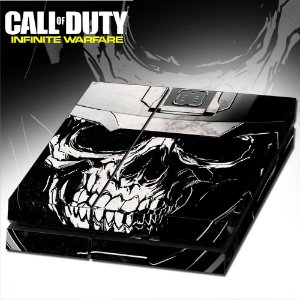 Adesivo para Console Ps4 Fat Call Of Duty Infinity Skull