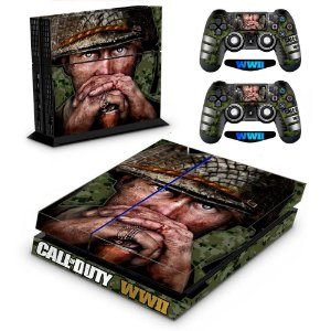 Adesivo para Console Ps4 Fat Call Of Duty WW2 Soldier