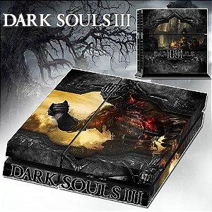 Adesivo para Console Ps4 Fat Dark Souls 3