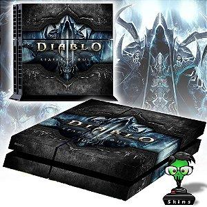 Adesivo para Console Ps4 Fat Diablo Reaper Souls Black Edition