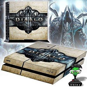 Adesivo para Console Ps4 Fat Diablo Reaper Souls White Edition