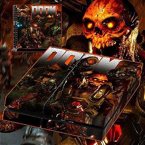 Adesivo para Console Ps4 Fat Doom