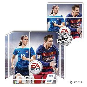 Adesivo para Console Ps4 Fat Fifa Girl