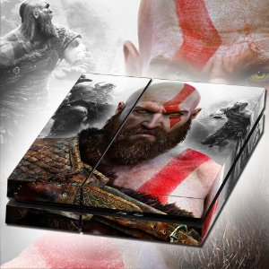 Adesivo para Console Ps4 Fat God Of War 4