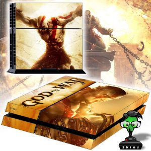 Adesivo para Console Ps4 Fat God Of War Ascenssion