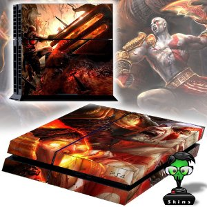 Adesivo para Console Ps4 Fat God Of War Battle
