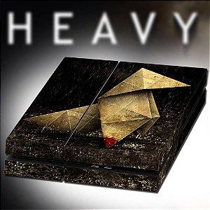 Adesivo para Console Ps4 Fat Heavy Rain