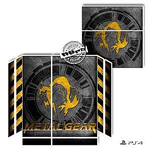 Adesivo para Console Ps4 Fat Metal Gear Fox Amarelo